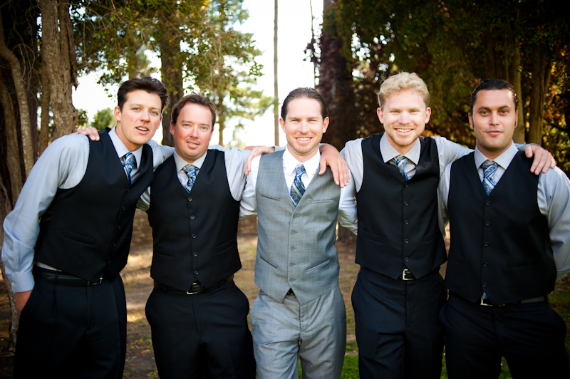 Portrait of Groom and groomsmen at the Sesnon House