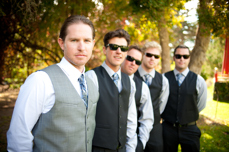Groom with groomsmen in Aptos, CA