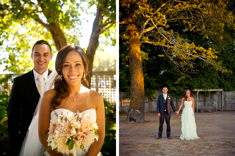 Portraits of Bride and Groom at the Vine Hill House