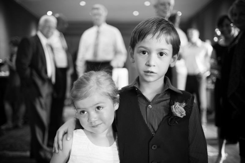 Ringbearer and Flower girl at wedding in Oakland, CA