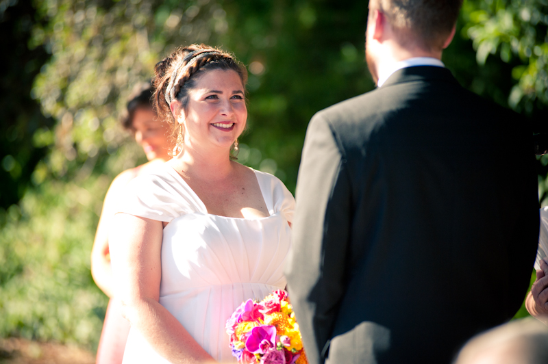 Bride smiling during Montclair Women's Cultural Arts Club Wedding