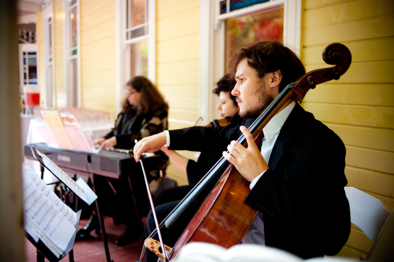 Wedding quartet performing at the Trocadero House in San Francisco