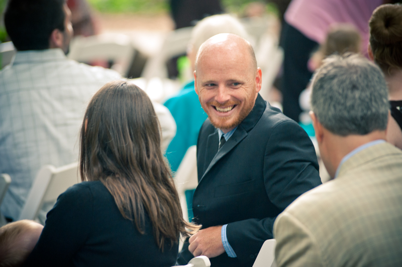 Happy wedding guest at Stern Grove