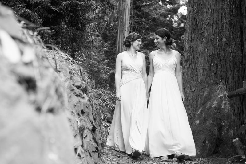 Bride and Bride walking together in San Francisco