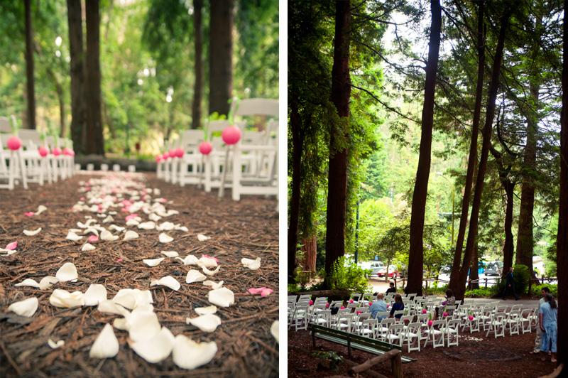 Redwood ceremony location at Stern Grove Wedding