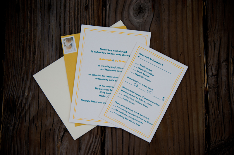 Detail photo of wedding invitation