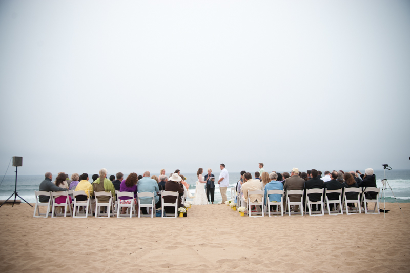 Ceremony site for Monterey Beach Wedding