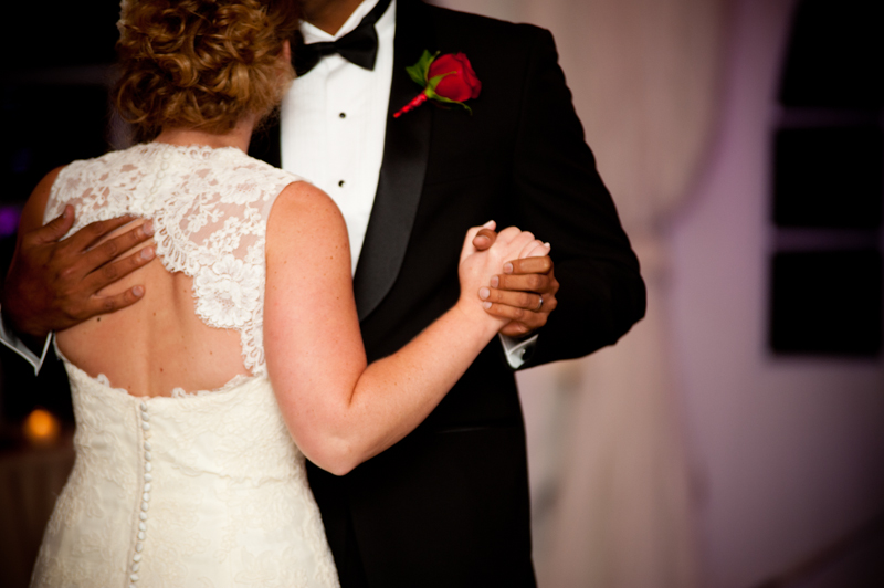Detail of Bride and Groom's first dance at Viansa Winery wedding