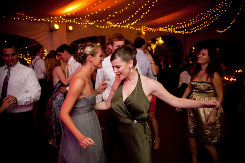 Wedding guests dancing at Viansa Winery reception