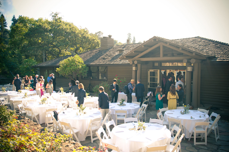 Beach house during wedding at Lake Temescal