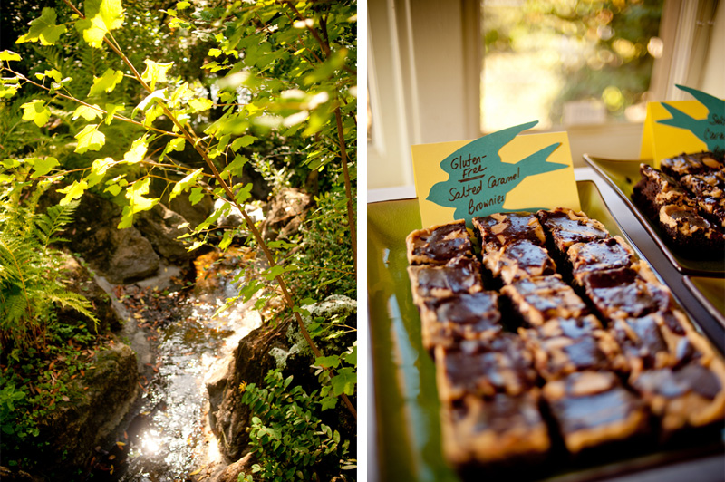 Homemade treats at Lake Temescal wedding