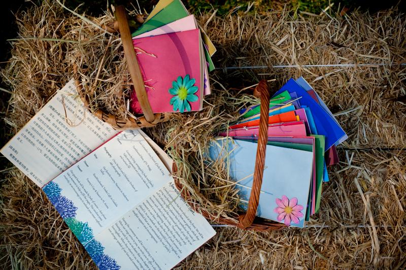 Handmade DIY wedding program for wedding at Mar Vista Cottages