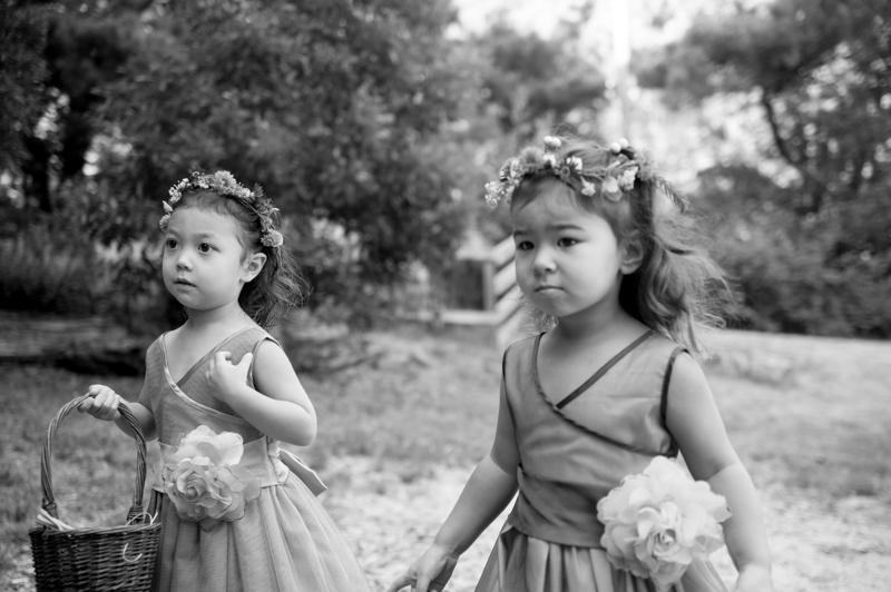 Flower girls at Mar Vista Cottages wedding