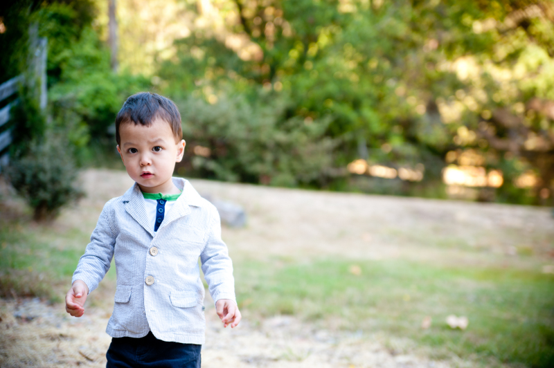 Ringbearer walking to ceremony site