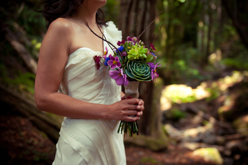 Detail of Bride holding her bouquet
