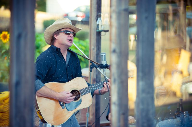 Bluegrass band providing music for wedding reception at Mar Vista Cottages
