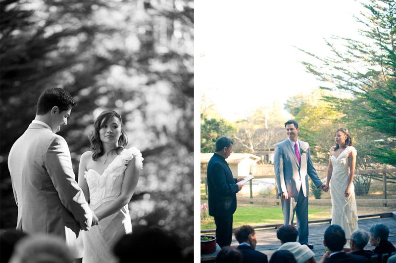 Wedding ceremony at Mar Vista Cottages