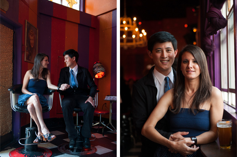 Engagement session at Beauty Bar San Francisco