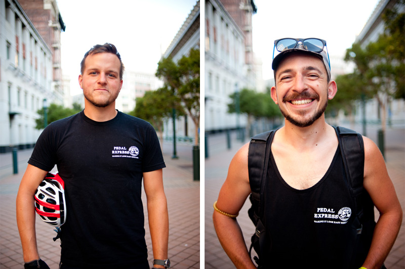 Small business headshots of bay area bike messeners