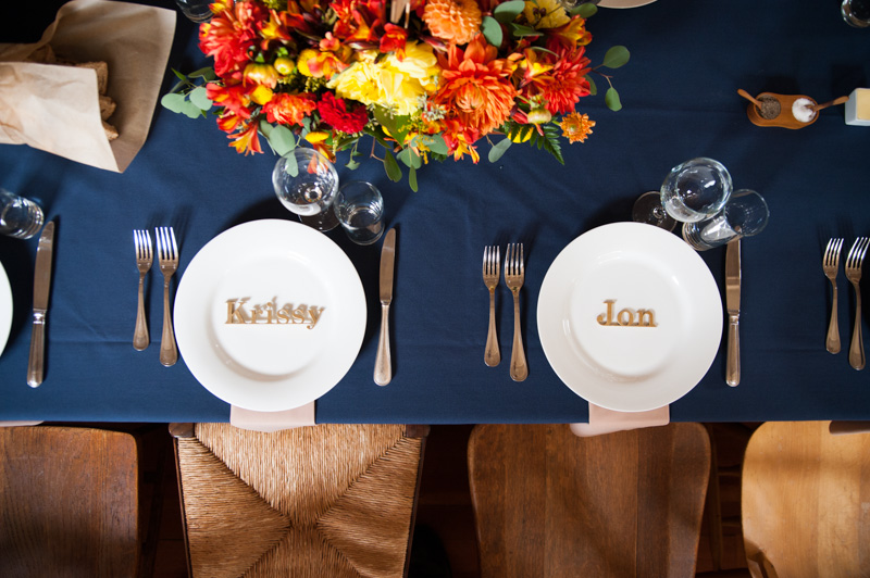 Top down of table settings