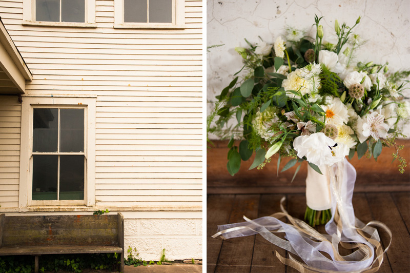 Wedding bouquet at Headlands Center for the Arts