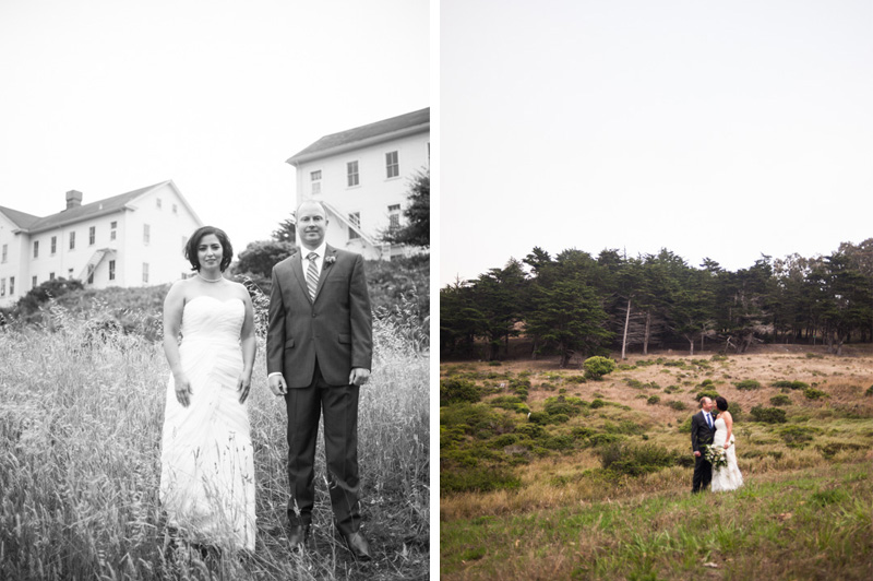 Bride and Groom  at Headlands Center for the Arts