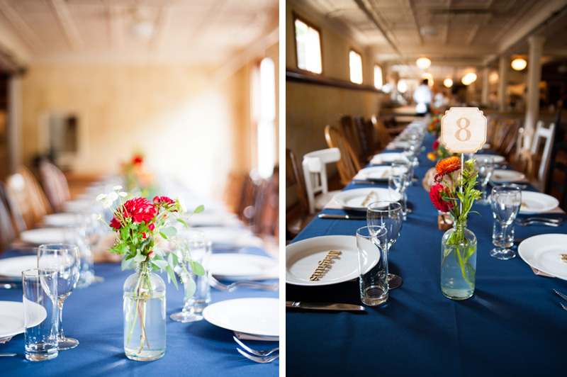 Table settings at Headland Center for the Arts