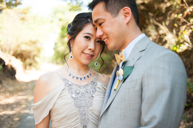 Portrait of Bride and Groom in Oakland