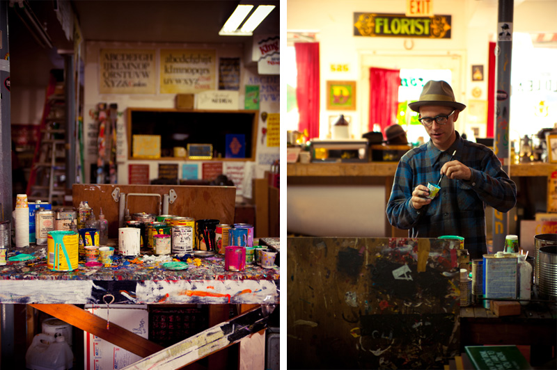 Portrait of sign painter Derek McDonald