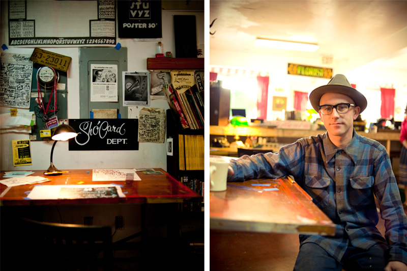 Environmental portrait of Bay Area sign painter