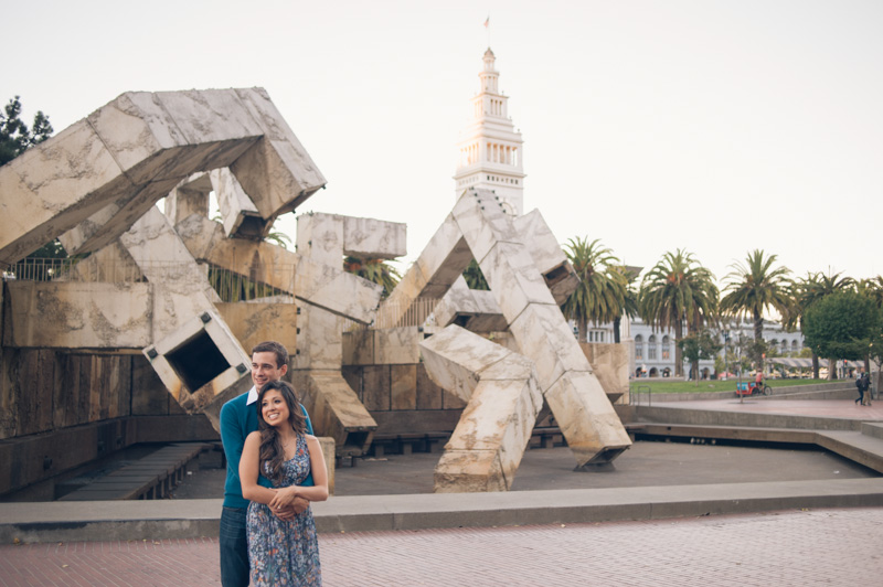 Engagement session on the Embarcadero