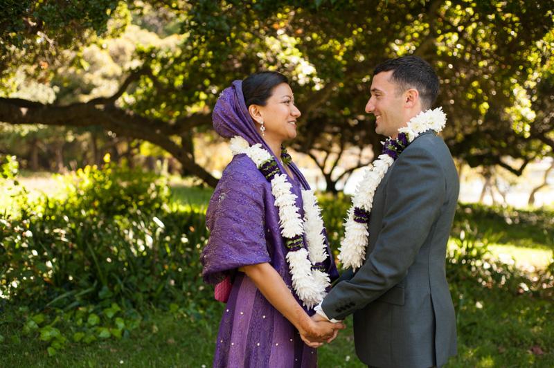 Bride and Groom at Lake Merritt in Oakland
