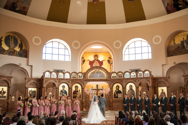 Wedding ceremony at St. Demetrios Greek Orthadox Church