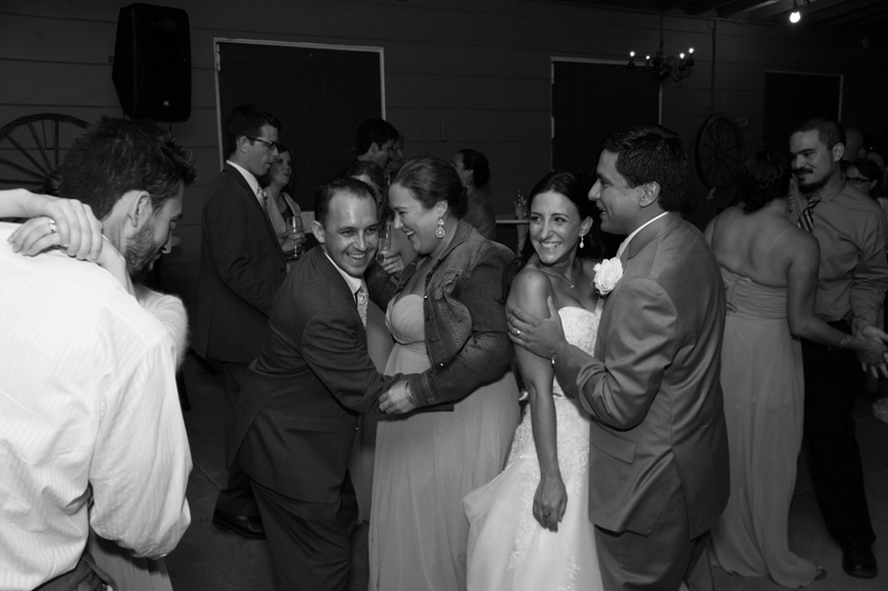 Wedding guests dancing at Diablo Ranch reception