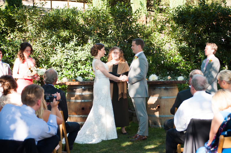 House wedding in California wine country