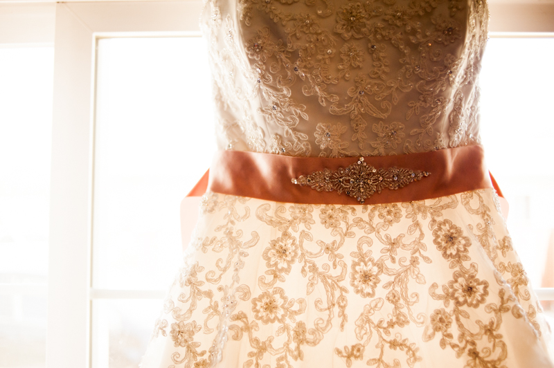 Detail photo of wedding dress