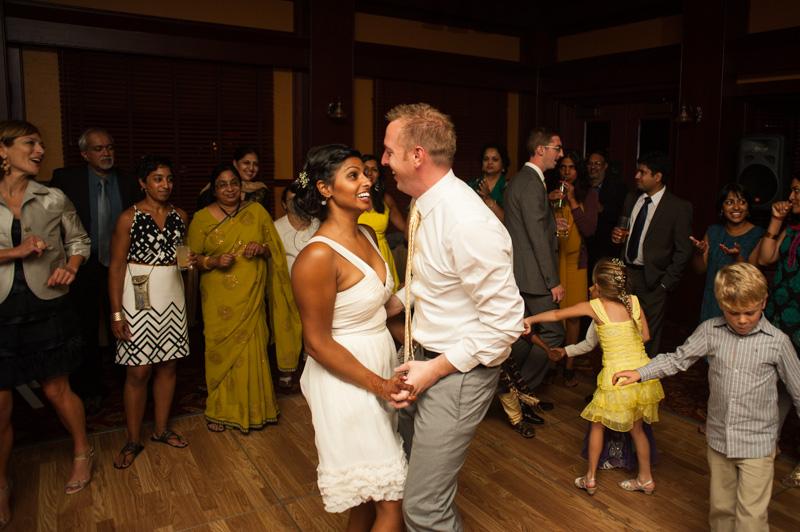 Bride and Groom dancing at Inn Marin