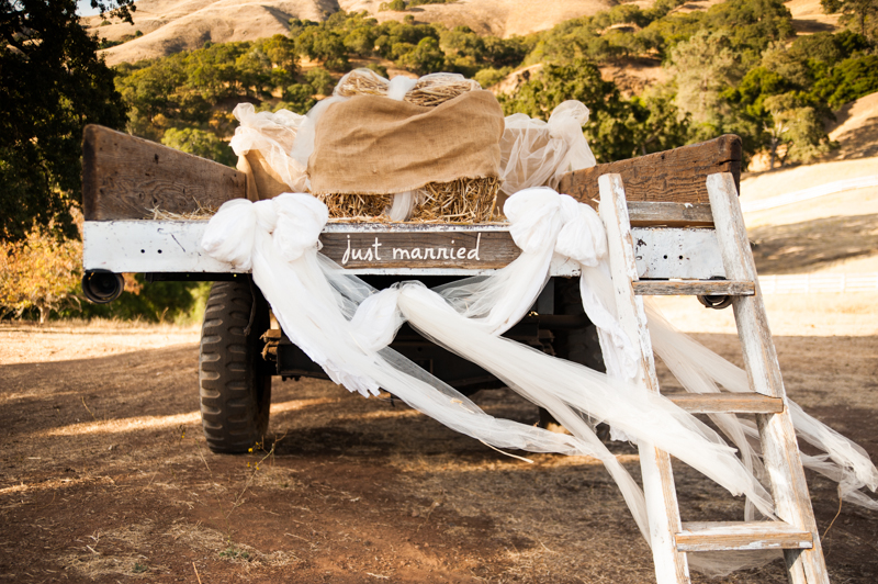 Truck with Just Married sign at Diablo Ranch Events