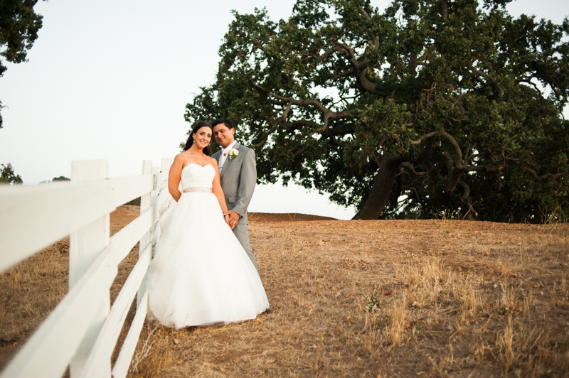 Bride and Groom at sunset on Mt. Diablo