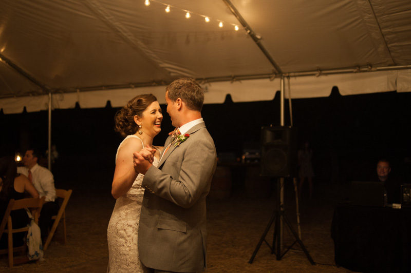 Bride and Groom first dance in St. Helena