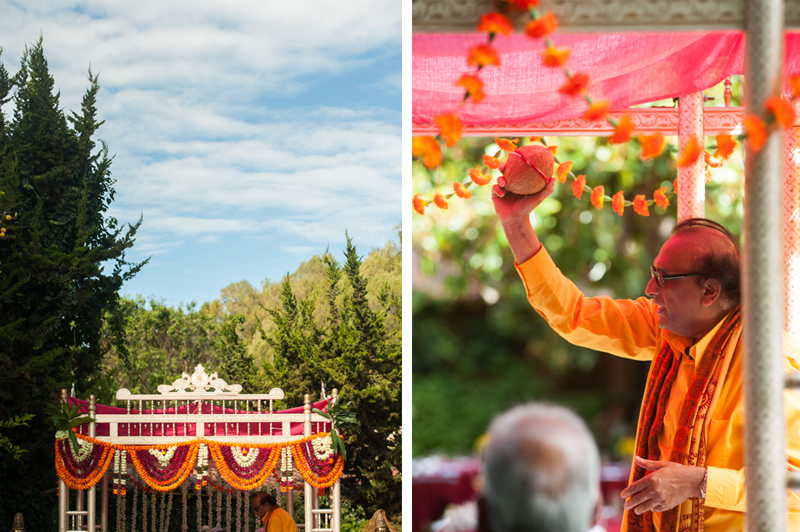 Detail of Indian Priest during ceremony in Marin, CA