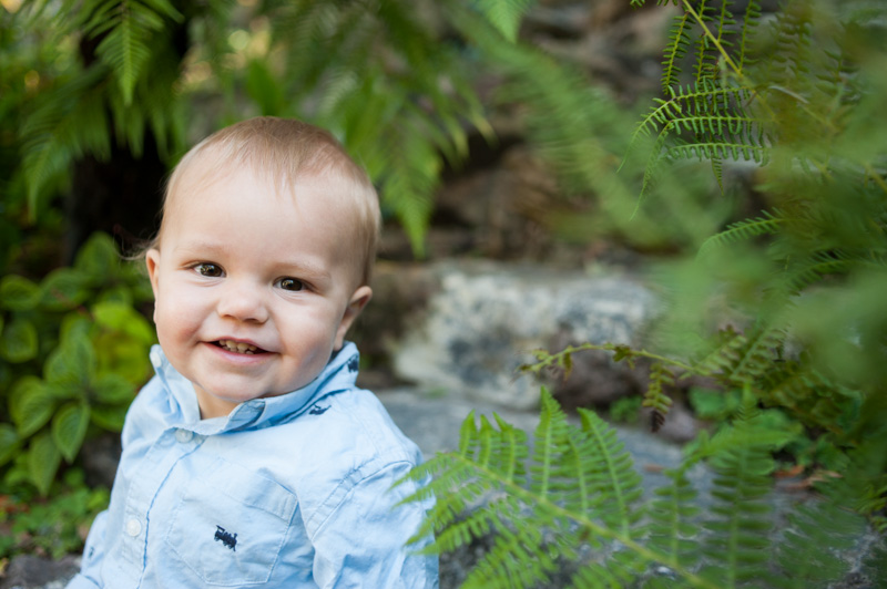 natural light portrait of baby smiling