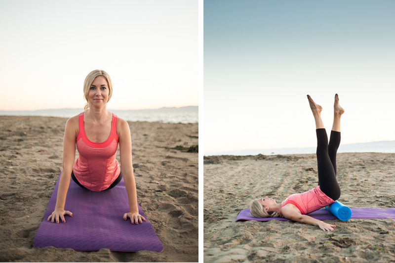 Pilates on the beach in Alameda
