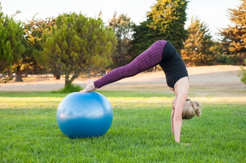 Pilates instructor, Suzanne Becker, doing Pilates in Alameda