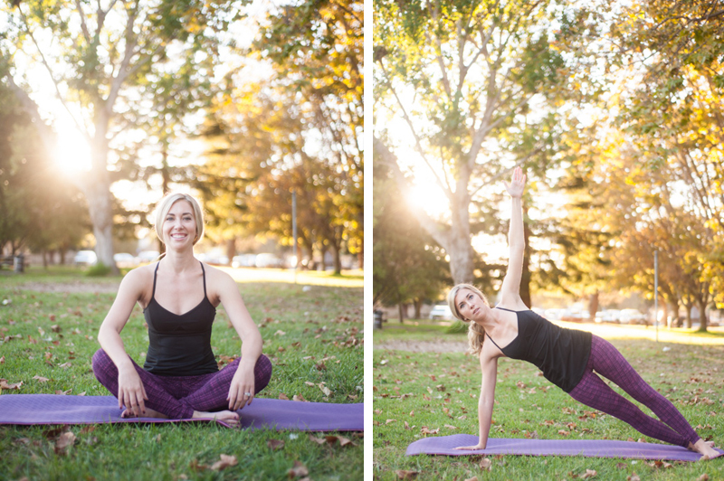 Natural light portraits of Pilates instructor