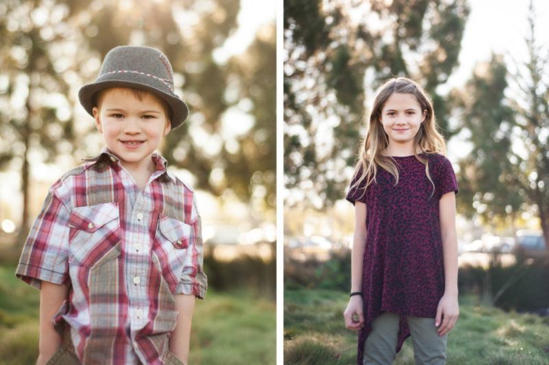 Portrait of siblings in Oakland