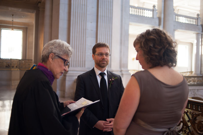 Ceremony at SF City Hall