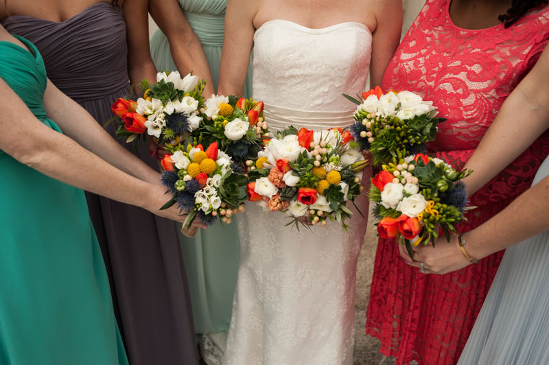 Detail of wedding bouquets