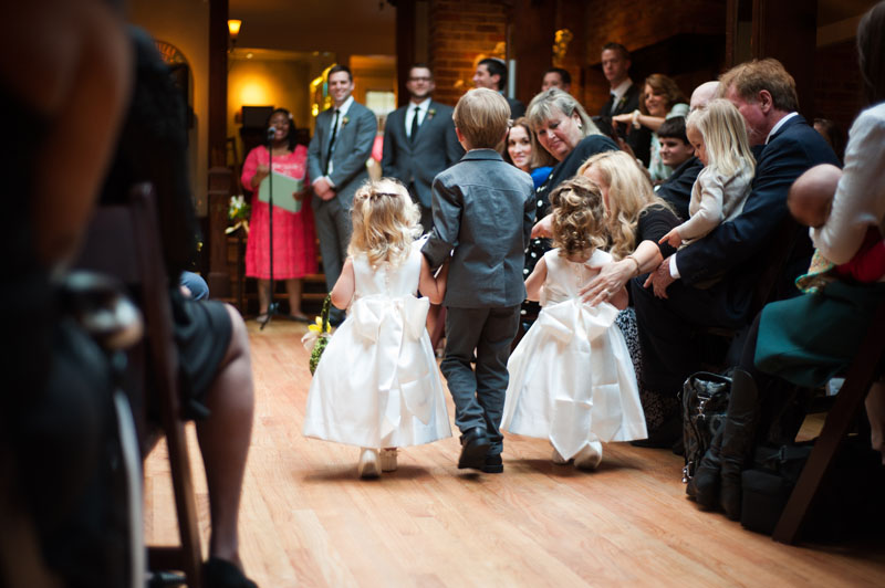 Ringbearer and flower girls at the Tavern at Lark Creek