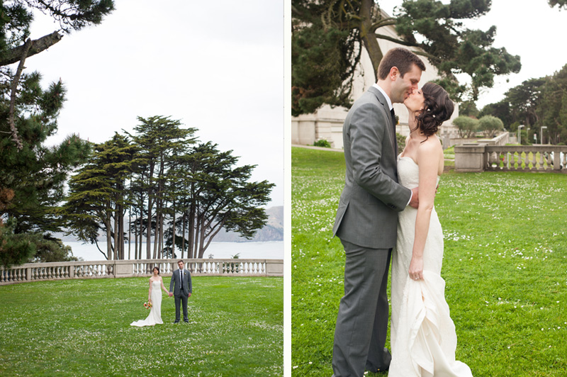 Wedding portraits at the Legion of Honor